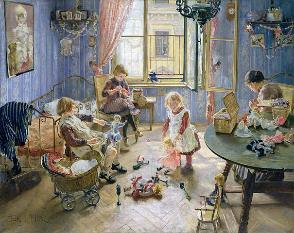 Fritz_Uhde_Die_Kinderstube_1889
